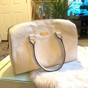 Kate spade white leather hand bag